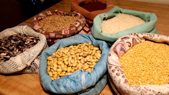 bulk grains and legumes