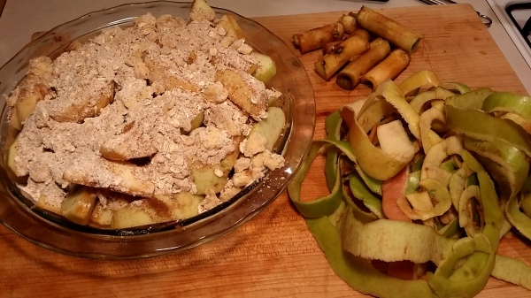 apple crumble plus scraps