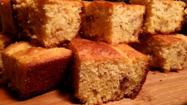 corn bread with pork fat