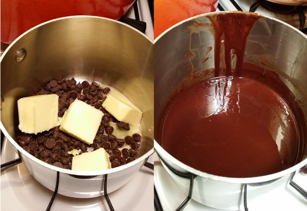 butter chocolate before after