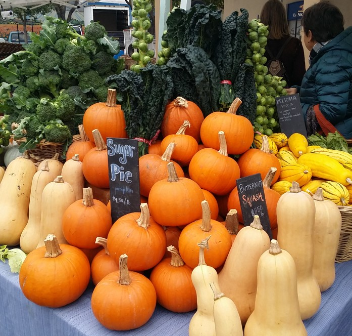Winter produce at the farmer's market