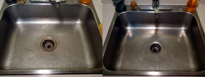 sink before after