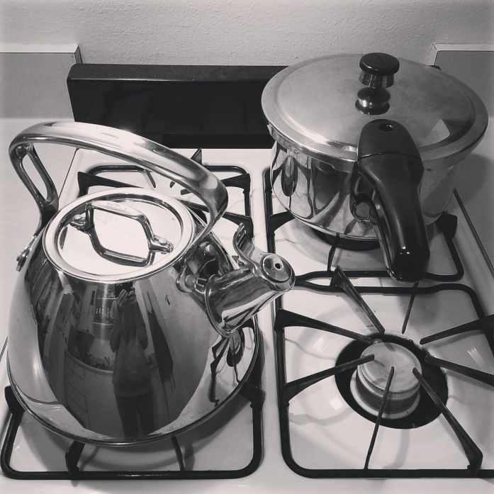 pressure cooker and tea kettle