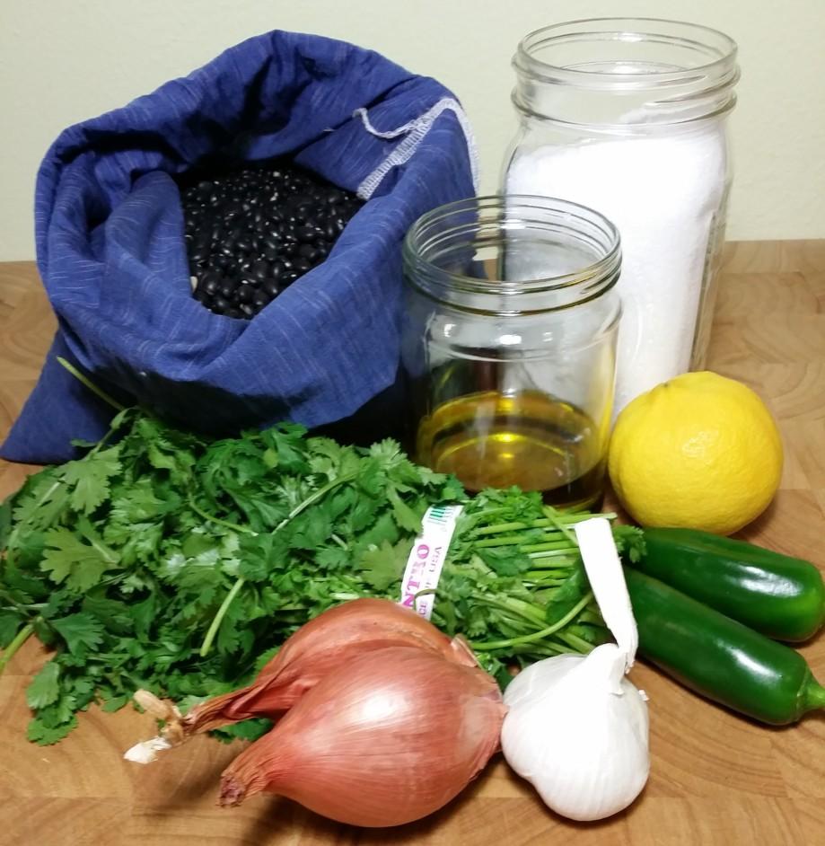 ingredients spicy black beans