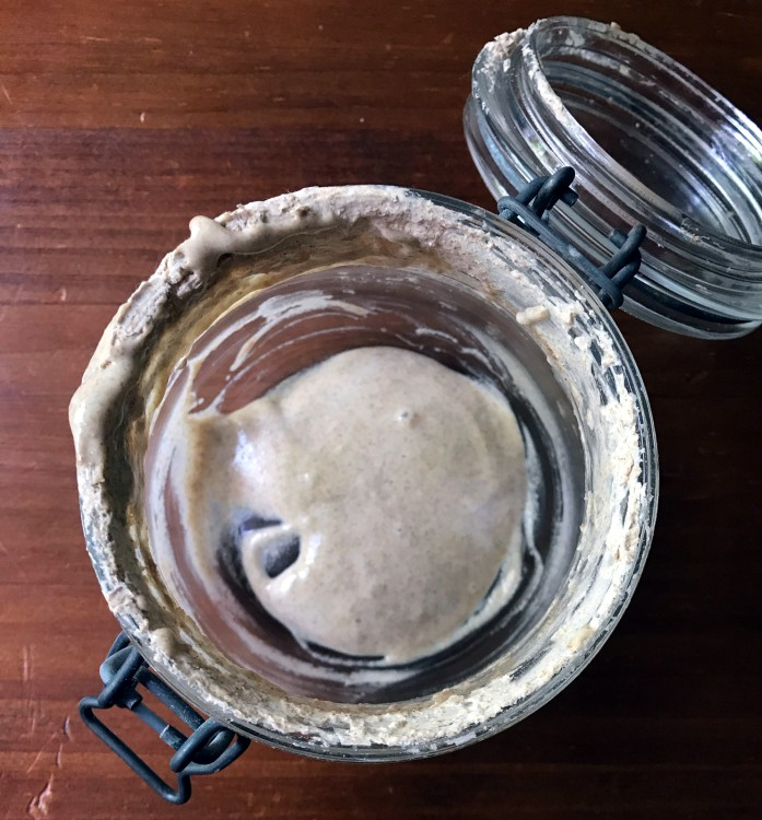 sourdough starter feeding